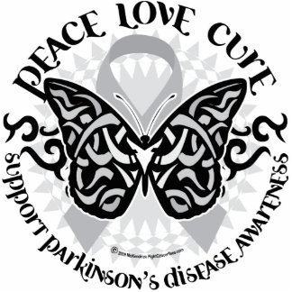 Parkinson's Disease Butterfly Tribal 2 Cutout