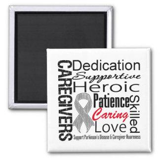 Parkinsons Disease Caregivers Collage 2 Inch Square Magnet