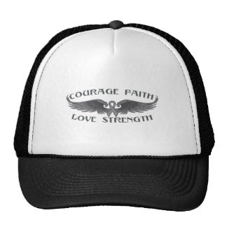 Parkinsons Disease Courage Faith Wings Mesh Hats