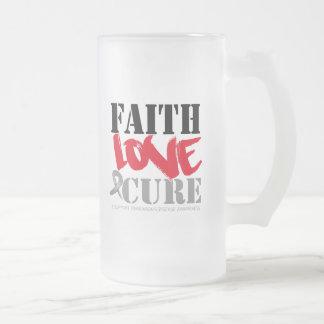 Parkinsons Disease Faith Love Cure 16 Oz Frosted Glass Beer Mug