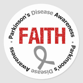 Parkinson's Disease FAITH Classic Round Sticker