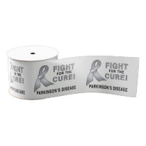 "Parkinson's Disease Fight for the Cure 3"" Grosgrain Ribbon"