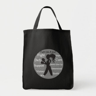 Parkinson's Disease Fight Like A Girl Collage Bags