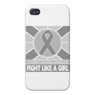 Parkinson's Disease Fight Like A Girl Flag iPhone 4/4S Cases