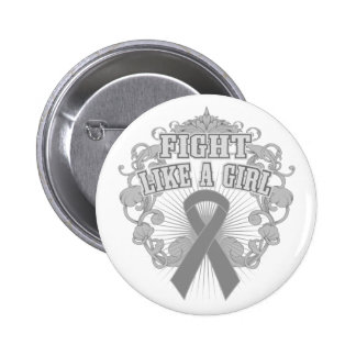 Parkinsons Disease Fight Like A Girl Fleurish 2 Inch Round Button