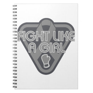 Parkinsons Disease Fight Like A Girl Glove Spiral Note Books