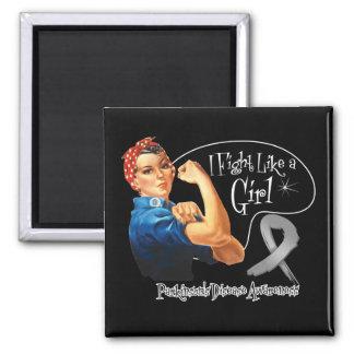 Parkinsons Disease Fight Like a Girl Rosie Riveter Refrigerator Magnets