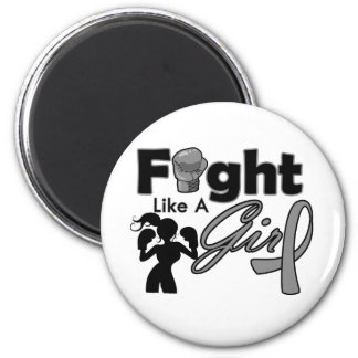 Parkinson's Disease Fight Like A Girl Silhouette Refrigerator Magnets
