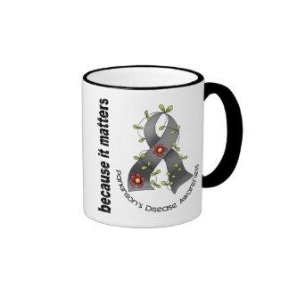 Parkinsons Disease Flower Ribbon 3 Ringer Coffee Mug