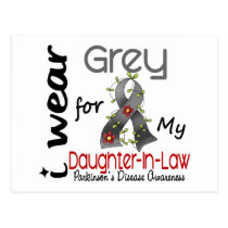 Parkinsons Disease Grey For My Daughter-In-Law Postcard