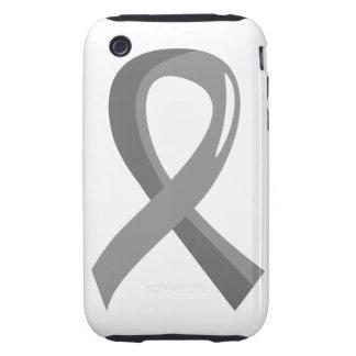 Parkinson's Disease Grey Ribbon 3 iPhone 3 Tough Covers