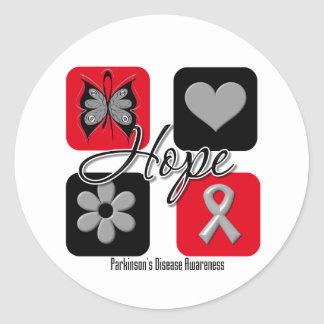 Parkinsons Disease Hope Love Inspire Awareness Classic Round Sticker