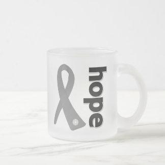 Parkinsons Disease Hope Ribbon 10 Oz Frosted Glass Coffee Mug