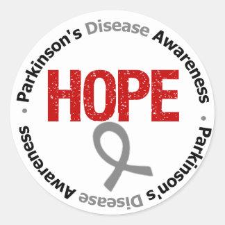 Parkinson's Disease HOPE Classic Round Sticker