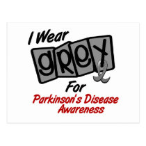 Parkinsons Disease I WEAR GREY For Awareness 8 Postcard