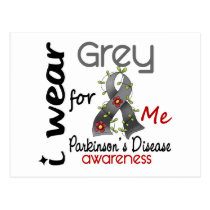 Parkinsons Disease I Wear Grey For ME 43 Postcard