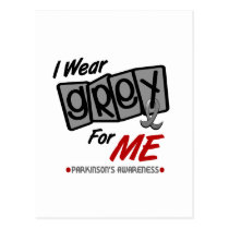 Parkinsons Disease I WEAR GREY For ME 8 Postcard