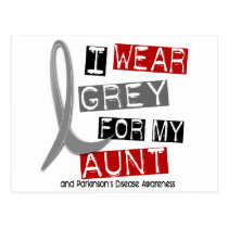 Parkinsons Disease I WEAR GREY FOR MY AUNT 37 Postcard