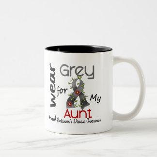 Parkinsons Disease I Wear Grey For My Aunt 43 Two-Tone Coffee Mug