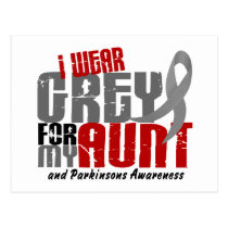 Parkinsons Disease I WEAR GREY FOR MY AUNT 6.2 Postcard