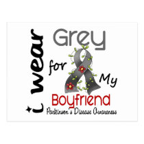 Parkinsons Disease I Wear Grey For My Boyfriend 43 Postcard