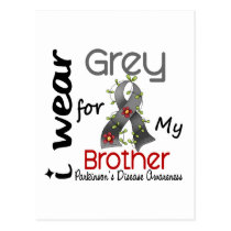 Parkinsons Disease I Wear Grey For My Brother 43 Postcard