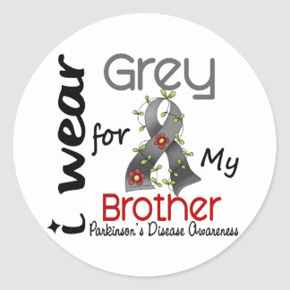 Parkinsons Disease I Wear Grey For My Brother 43 Classic Round Sticker