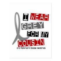 Parkinsons Disease I WEAR GREY FOR MY COUSIN 37 Postcard