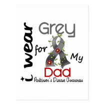 Parkinsons Disease I Wear Grey For My Dad 43 Postcard
