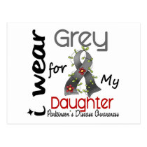 Parkinsons Disease I Wear Grey For My Daughter 43 Postcard