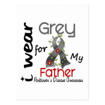 Parkinsons Disease I Wear Grey For My Father 43 Postcard