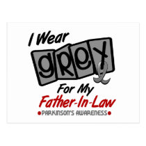 Parkinsons Disease I WEAR GREY For My Father-In-La Postcard
