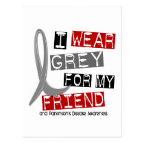 Parkinsons Disease I WEAR GREY FOR MY FRIEND 37 Postcard