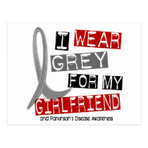 Parkinsons Disease I WEAR GREY FOR MY GIRLFRIEND 3 Postcard
