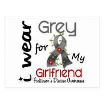Parkinsons Disease I Wear Grey For My Girlfriend Postcard