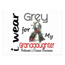 Parkinsons Disease I Wear Grey For My Granddaughte Postcard