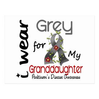 Parkinsons Disease I Wear Grey For My Granddaughte Postcards