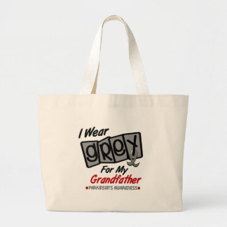 Parkinsons Disease I WEAR GREY For My Grandfather Canvas Bag