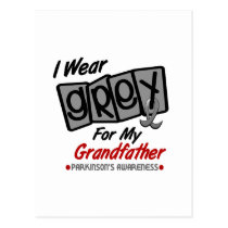 Parkinsons Disease I WEAR GREY For My Grandfather Postcard