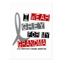 Parkinsons Disease I WEAR GREY FOR MY GRANDMA 37 Postcard