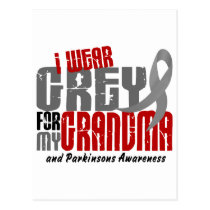 Parkinsons Disease I WEAR GREY FOR MY GRANDMA 6.2 Postcard