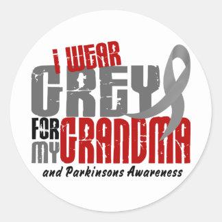 Parkinsons Disease I WEAR GREY FOR MY GRANDMA 6.2 Classic Round Sticker
