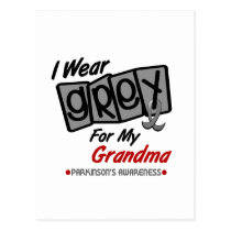 Parkinsons Disease I WEAR GREY For My Grandma 8 Postcard