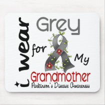 Parkinsons Disease I Wear Grey For My Grandmother Mouse Pad