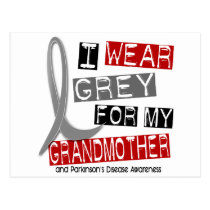 Parkinsons Disease I WEAR GREY FOR MY GRANDMOTHER Postcard