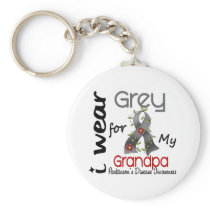 Parkinsons Disease I Wear Grey For My Grandpa 43 Keychain