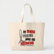 Parkinsons Disease I WEAR GREY FOR MY GRANDSON 37 Large Tote Bag