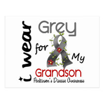 Parkinsons Disease I Wear Grey For My Grandson 43 Postcard