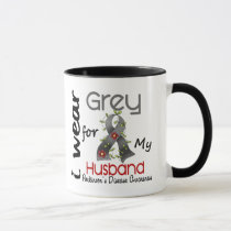 Parkinsons Disease I Wear Grey For My Husband 43 Mug