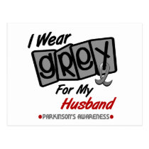 Parkinsons Disease I WEAR GREY For My Husband 8 Postcard